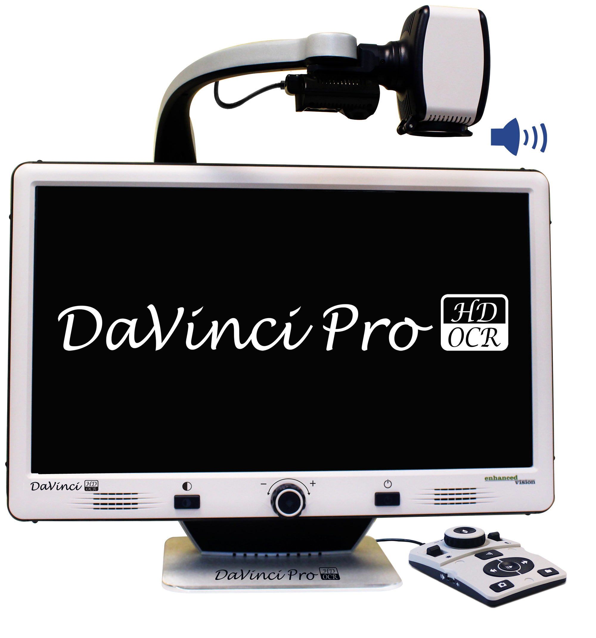 DaVinci Pro with logo on screen